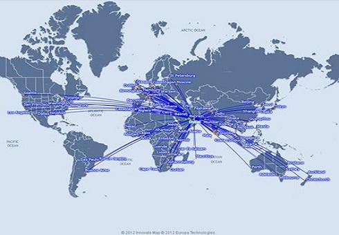 Emirates Map