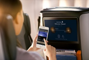 premium economy entertainment system